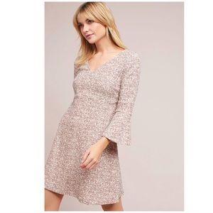 anthto maeve susie swing tweed dress size M